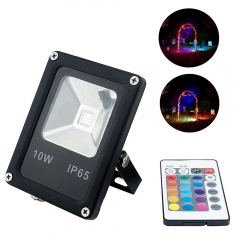 RGB LED Floodlight AC85-265v 10W COB LEDs Waterproof Spotlight for Garden Landscape Park Lighting With Remote Controller