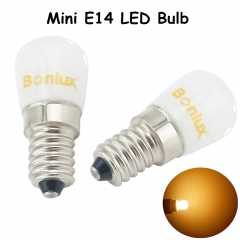 Mini E14 LED Fridge Bulb Light 1.5W 120lm Replace 15W Halogen for Sewing Machine Chandelier Refrigerator Freezer Fridge lighting-Pack of 2