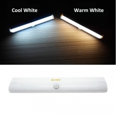 LED PIR Motion Sensor Light DIY Stick-on Anywhere Portable 10-LED Wireless Motion Sensing LED for Under Cabinet Wardrobe Drawer Bathroom Hallway