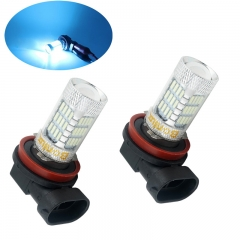LED H11 H8 Fog Light Bulb Ultra Blue 10-30V AC/DC LED Projection Bulb for DRL Daytime Running Light or Car Fog Light (Pack of 2)