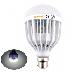 B22 UV LED Bug Zapper Light Bulb BC Bayonet Cap 10W LED Indoor Outdoor Mosquito Flies Wasps Moths Insects Zapper Electric Killer Lamp for Home Kitchen