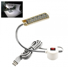 5V USB LED Sewing Light 30 Daylight LEDs Flexible Working Gooseneck Lamp, With Magnetic Mounting Base, ON/OFF Switch for All Sewing Machine