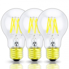 Dimmable LED Edison Filament Light A19(A60) Vintage LED Bulb E26 Medium Base LED Decorative Antique Lamp (3-Pack)