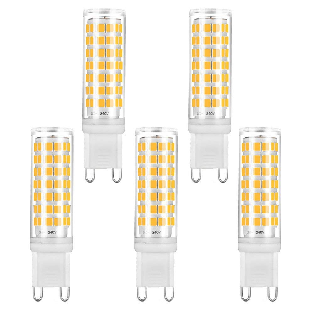 Bonlux 6W Dimmable G9 LED Bulb 88pcs 2835 SMD LEDs Light Bulb 5-pack