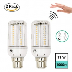 11W Corn Light Bulb Motion Sensor PIR LED  Bulb B22 BC Bayonet Base 1000lm Stair Lights for Garage/ Stairs/ Hallway/ Porch