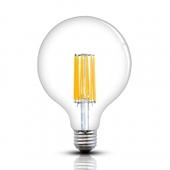 G40/G125 LED Dimmable Edison Vintage Filament Bulb 12W Screw E26 Base Long COB Filament LED Clear Glass Globe Light 130W Incandescent Equivalent