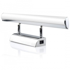 LED Bathroom Mirror Light Make-up Front Light Rectangular Tube Light for Bathroom Vanity Lighting Fixture Stainless Steel Base Mirror Wall Light