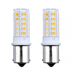 3W Ba15s LED Light Bulb 24V Single Connect SBC Small Bayonet Ba15s LED Replacement Lamp for Boat Truck Automotive Lighting Bulbs (2-Pack)