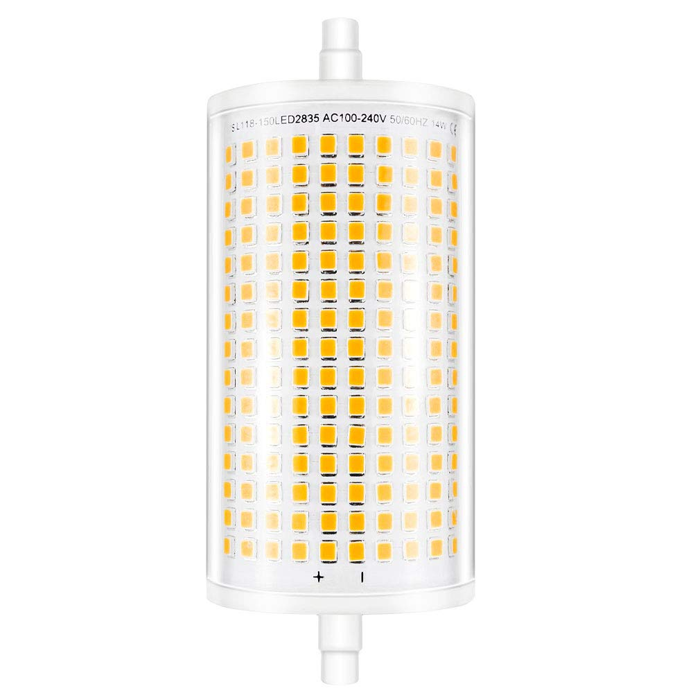 R7s Linear Halogen Bulb 160W Security Floodlight 118mm Tungsten Tube Dimmable