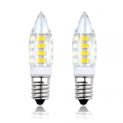 Bonlux 2-Pack E14 LED Candle Bulbs Small Edison Screw 4W E14 SES LED Light Bulbs Replace Halogen Bulbs E14 40W Bulb