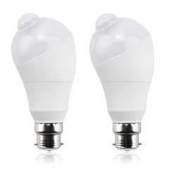 Bonlux LED PIR Motion Sensor Light Bulb B22 5W LED Motion Sensor Indoor Light Bulb Bayonet Cap with Photo Sensor (2pcs)