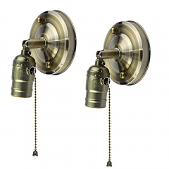 For USA 100% Free Industrial Vintage Wall Sconce Decorative E26 E27 Light Medium Screw