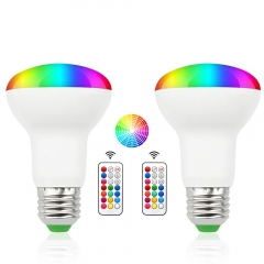 For USA 100% Free 3W E26 BR20 RGB Dimmable LED Bulbs with Remote Control