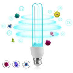 25W E27 UVC Germicidal Bulb with Ozone for Places less than 40㎡, Professional LED Ultraviolet Sterilization Domestic Germicidal Disinfection