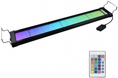 RGB LED Aquarium Light - Color Changing LED Fish Tank Hood Light with Extendable Brackets, Dimmable RGB LED Light