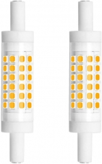 Dimmable R7S LED Bulb 78mm (3'') - 5W T3 Double Ended J Type J78 LED Flood Light  45W Halogen